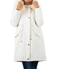 Bílé dámské kabáty na zip - Glami.cz 9e2d1a54dea