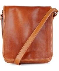 ITALSKÉ Luxusní crossbody pánské kožené tašky na rameno Pedro medové 9c3e1b7ac39