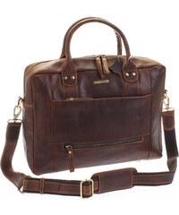 SendiDesign Hnědá luxusní a kvalitní kožená taška - Sendi Design Hero hnědá a1b918d0371