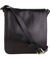 ITALSKÉ Italské černé kožené tašky přes rameno Vera Pelle Chulio d6c88abeb8a