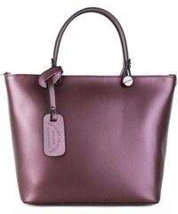 1df7a742565 Talianske kožené kabelky luxusné do ruky Merana fialové stredné