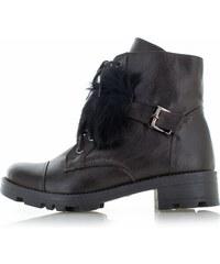 2b07bb410aca Olivia Shoes Tmavohnedé kožené topánky Glory