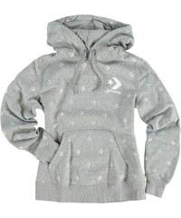 1141f017ca8 Dámská šedá mikina Converse Star Chevron Print Pop Hoodie