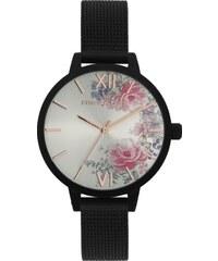 87748e036cf JVD Dámské luxusní designové černé hodinky SUNDAY ROSE Fashion MIDNIGHT  BLOSSOM