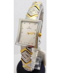 Dámské stříbrno-zlaté švýcarské hranaté hodinky Grovana 4012.1142 - bicolor 8d8fa724e3