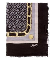 Šátek LIU JO - Foulard Logo Col.Bl A18245 T0300 Nero 22222 39772b01052