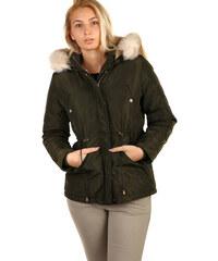 TopMode Lesklá dámská bunda - i pro plnoštíhlé (zelená f3dcaa4f55