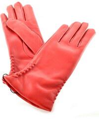 Bohemia gloves Červené kožené dámské rukavice s ražbou 46d102d514