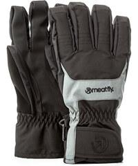 Meatfly Pánské prstové rukavice Cyclone Gloves B - Black Grey b348fbc993