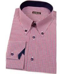 Pánská košile SLIM červeno-modrá kostkovaná Avantgard 124-3112-41 42  51acee24b4