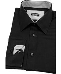 Košile SLIM černá s drobnou kostkou Avantgard 119-2301-41 42 182 078fcced04
