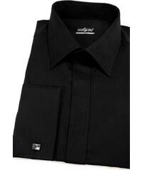 c18fd19febc Pánská košile SLIM krytá léga Černá Avantgard 160-23-41 182