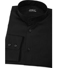 db0eb9b19f4 Pánská košile se stojáčkem SLIM černá Avantgard 152-23-45 182