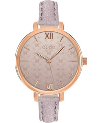 2f26d0e99ba Qudo Dámský béžový set hodinky + náramek Cecina Butterfly