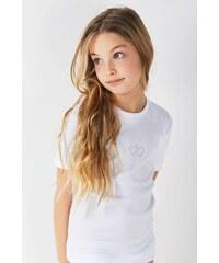 Jadea Dívčí bavlněné tričko Lea bílá f8a8074c7e