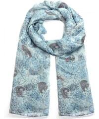 2f4bc406975 Dámský světle modrý šátek Millau 021