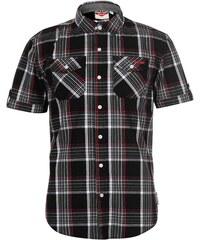 Košile pánská Lee Cooper Check Black White Red 6b3a93dfa4