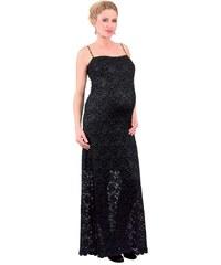 Těhotenské společenské šaty Rialto LORCE Modrá krajka 0285 e1f2aa15cb