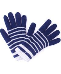 a513c4980c4 Zimní rukavice Pletex 10963 Tmavě modrá s proužky