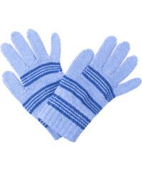 9f918652f35 Zimní rukavice Pletex 10970 Světle modrá s proužky
