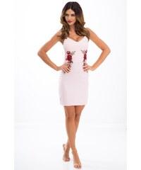 8739c60b798 Růžové letní pouzdrové šaty - Glami.cz