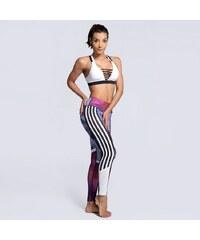0ea40fbbe22 TOPLEGINY Dámské sportovní legíny FARCE Stripes Zebra