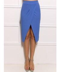 95565dc74df Glam Modrá sukně s rozparkem