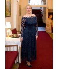 04f1b635762e Bellazu Dlouhé krajkové šaty Nuri s průsvitnými rukávy