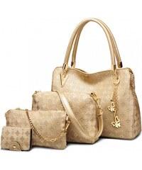 SET  Dámská zlatá kabelka Claire 6714 8c012291610