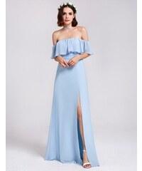 Ever-Pretty Blankytně modré boho šaty se spadlými rameny 5fb159bf22