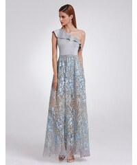 Ever-Pretty Šedé zimní šaty s asymetrickým živůtkem aeb1b34c9f