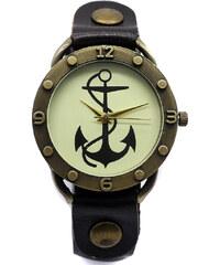 BF-Beauty Vintage hodinky s kotvou a koženým řemínkem 4830419961
