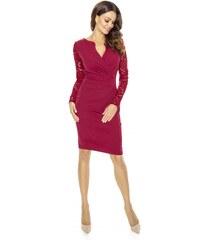 1dca0301ab9 KARTES MODA šaty dámské KM56K s obálkovým výstřihem