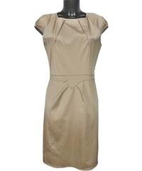0f669b29c4 SATIN PENCIL dámské zlaté šaty