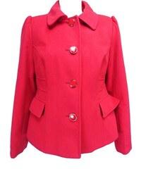 Dámský růžový kabát s páskem Vera Ravenna - Glami.cz de23469fbca