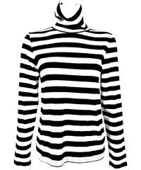 ATMOSPHERE dámské černé-bílé proužkované triko s dlouhým rukávem 58a19ce00b