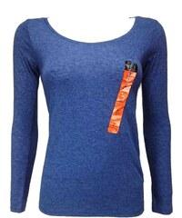 ATMOSPHERE dámské modré triko s dlouhým rukávem eefa070aa4