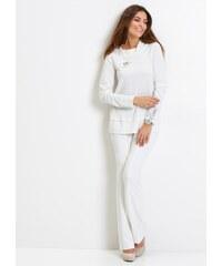 2e11c5eb922 Bílé dámské svetry s kulatým výstřihem - Glami.cz