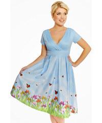 LINDY BOP Dámské retro šaty Darcy Vítání jara 421749b341