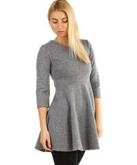 TopMode Úpletové dámké šaty áčkového střihu (světle šedá a788f74dee