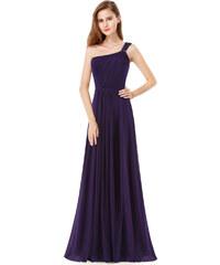 Fialové šifonové jednobarevné šaty - Glami.cz e0451bce9f7