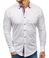 Biela pánska elegantná košeľa s dlhými rukávmi BOLF 1747 30cd882f07a