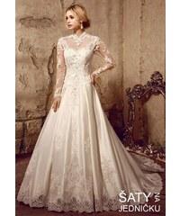 f7ef974822b Helen Fontaine Svatební korzetové šaty s dlouhým rukávem