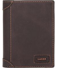 Kožená pánská peněženka LAGEN LG-1124 hnědá cbd37f5c8c