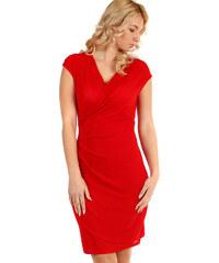 4e5aa61d9749 Glara Třpytivé dámské plesové šaty se širokými ramínky