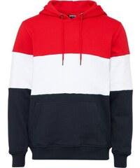 Urban Classics Mikina námořnická modř   ohnivá červená   bílá 4337db8484