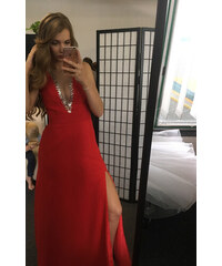 Červené maturitní šaty z obchodu Marizu-Shop.cz - Glami.cz 169f20dd633