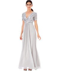 1a0fa74237f CITYGODDESS Společenské šaty Hvězdná noc stříbrné