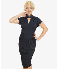 Tmavě modré pouzdrové šaty Lindy Bop Emma da38eff3cb