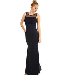 Glara Dlhé plesové šaty s čipkovaným vrškom eacbf610540